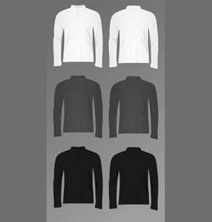men polo t shirt long sleeve vector image vector image