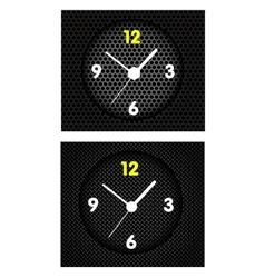 Modern Metal Clock vector image vector image