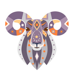 Ram head logo goat decorative emblem vector