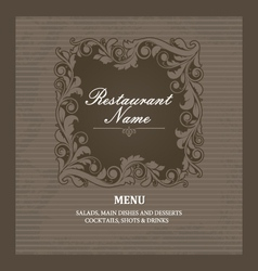 Restaurant menu book template vector image vector image