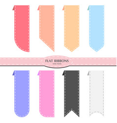 ribbon pastel vector image