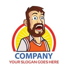 Shouting Man Logo vector image vector image
