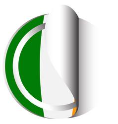 Sticker design for flag of ireland vector