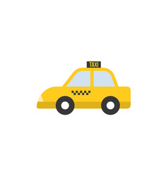 taxi icon flat design vector image vector image