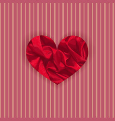 Vibrant satin heart vector