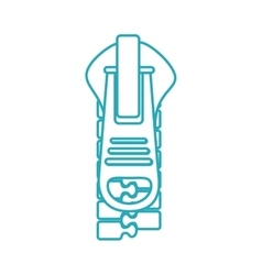 Zipper style isolated icon vector