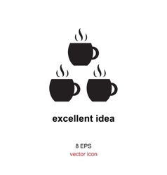 Exellent idea icon vector