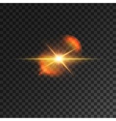 Light effect starlight beam spotlight lens flare vector