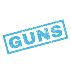 Guns rubber stamp vector