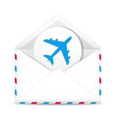 Air mail envelope vector image