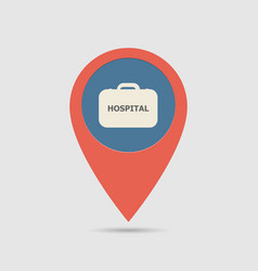map pin hospital vector image