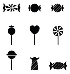 Candy icon set vector