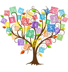 Education tree vector