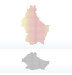 Map of luxembourg with dot pattern vector