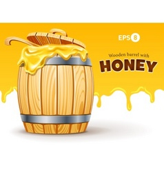 wooden barrel full of sweet vector image
