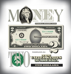 money 2 Two Fade vector image