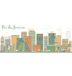Abstract Rio de Janeiro Skyline vector image vector image