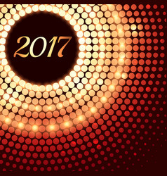 Abstract shiny 2017 background with dot effects vector