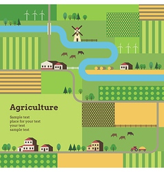 agriculture background tractor vector image