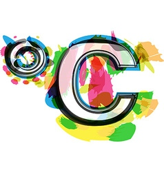 Artistic colorful celcius symbol vector