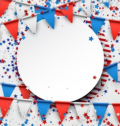 Background with flags and stars vector image