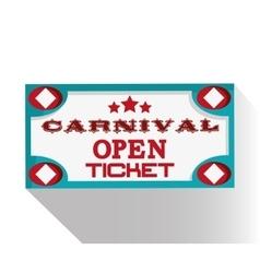Banner ticket of carnival design vector