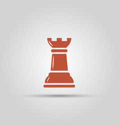 Chess rook isolated colored single icon vector