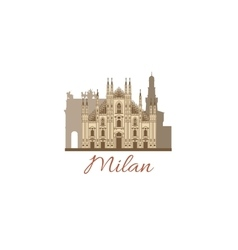 Colored template with composition of milan vector