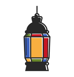 Colorful vivid lantern vector