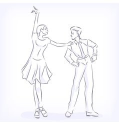 Couple dances latin fast ballroom dances vector image vector image