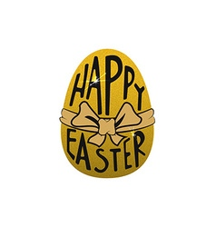 easter egg with lettering vector image vector image