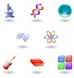 Education web icons vector