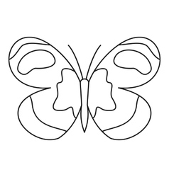 Figured butterfly icon outline style vector image vector image