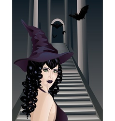 Gothic stairs and witch4 vector