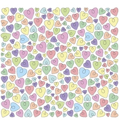 hearts on a white background vector image