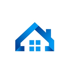 house icon abstract simple realty logo vector image vector image