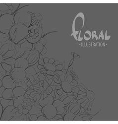Inspiring flowers vector image vector image