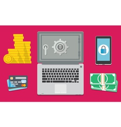 Internet banking is safe vector image vector image