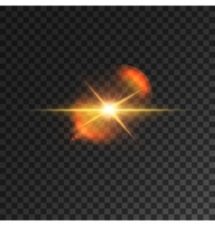 Light effect Starlight beam Spotlight lens flare vector image