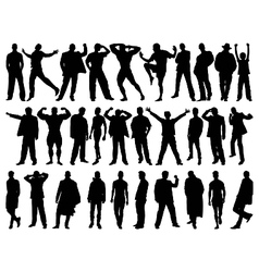 male model silhouettes vector image vector image