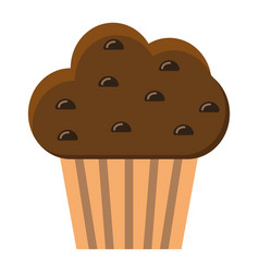 muffin flat icon food and drink sweet sign vector image