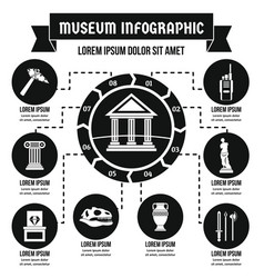 Museum infographic concept simple style vector
