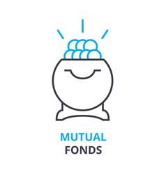 Mutual fonds concept outline icon linear sign vector