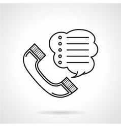 Order by phone black line icon vector image
