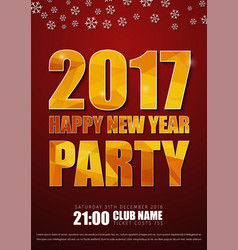 redr posters for the new years party in 2017 vector image vector image