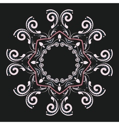 Round floral ornament7 vector