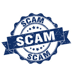 Scam stamp sign seal vector