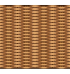 Seamless texture of wicker baskets for your design vector image