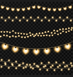 set of garlands on a transparent background vector image