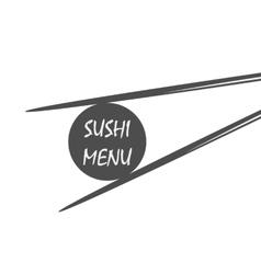 sushi menu vintage style vector image vector image